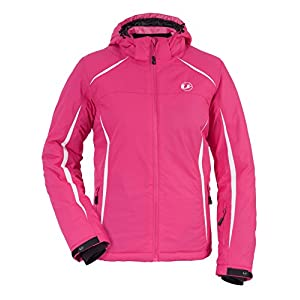 Ultrasport Women's Outdoor Jacket Winter Alpine - Polyfill Padded Ski Jacket with Adjustable Cuffs, Snow Skirt and Inner Pocket w/ Headphone Port - Warm Winter Outerwear, Pink, M