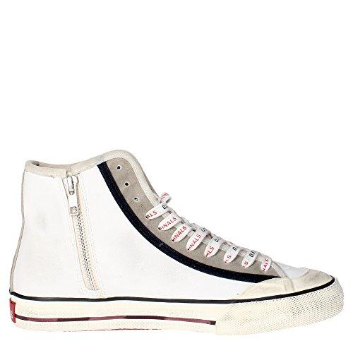 D.a.t.e. TENDER2 Sneakers Homme Cuir Vert Foncé Blanc