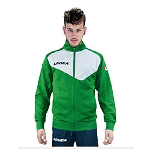 Legea Jacke Mexiko Langarm Sport Lauf Running Jogging Fußball, VERDE-BIANCO Mexiko-jacke