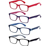 Best Cheater Glasses - EFE Fashion Reading Glasses 4 Pack for Men Review