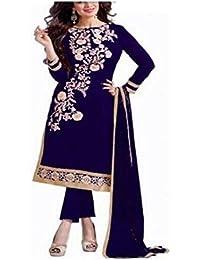 Muta Fashions Chanderi cotton Blue Women Suit(SUIT387)