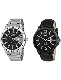 Watch Me Day And Date Analog Watches Gift Combo Set Of 2 Watches For Men And Boys DDWM-017-022bys