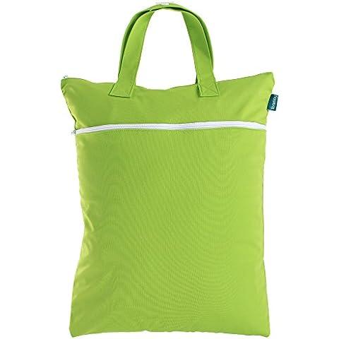 Teamoy viaggiare Hanging umido sacchetto asciutto per il panno Nappy / sporchi vestiti Organizzatore Tote Bag