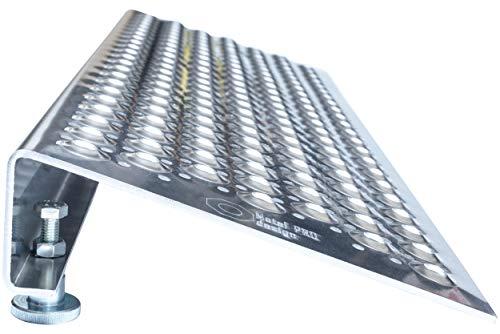 Einstellbare Rampe für Roller, Rollstühle und Rollwagen, Höhe von 8 bis 14 cm. Aluminium (Hohe Rollstuhl)