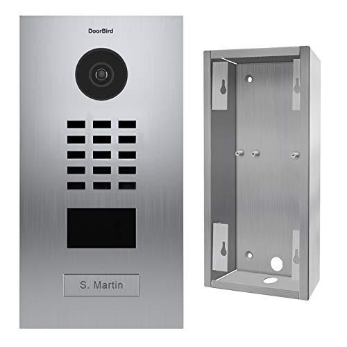 Doorbird D2101V Video-Türsprechanlage IP 1 Klingel + Halterung - Edelstahl