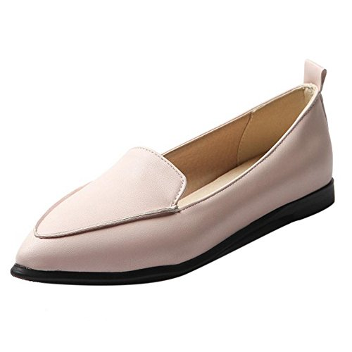 COOLCEPT Femmes Decontractee Slip On Appartements Court Chaussures Confortableable Loafers Chaussures Rose