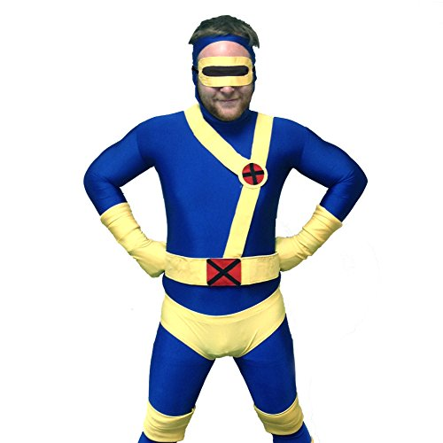 MyPartyShirt Cyclops Blue and Yellow Adult Costume-Adult ()