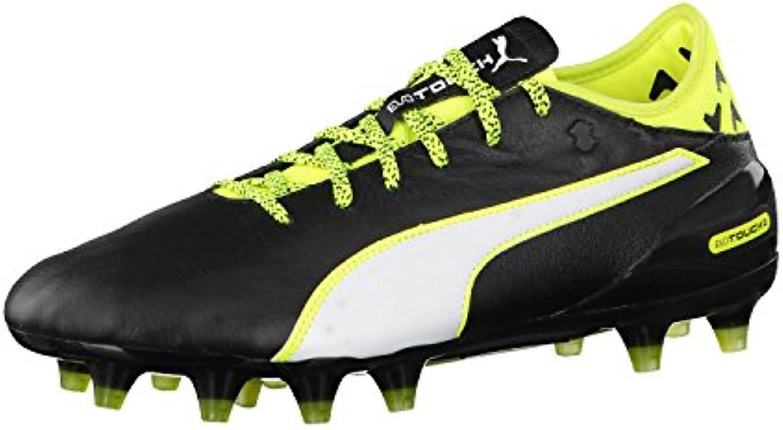 Puma – evotouch 2 FG Scarpe da calcio, Uomo, nero-bianca-safety giallo, 46.5 | lusso  | Uomini/Donne Scarpa