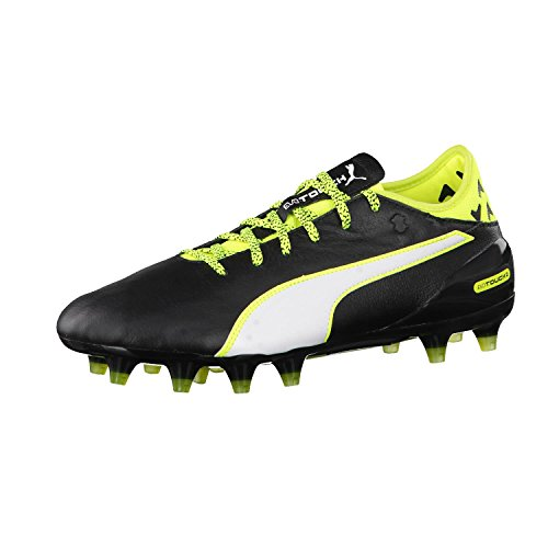 Puma Evotouch 2 FG, Chaussures de Football Compétition Homme black-white-safety yellow