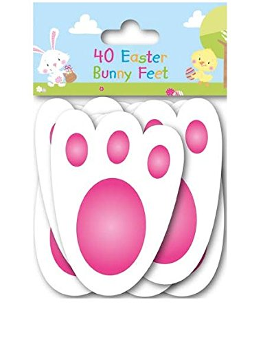 40-easter-bunny-feet-kids-party-game-egg-hunt-rabbit-footprints-reusable-11cm