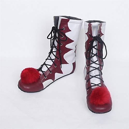 MSSJ Halloween Stephen King\'S It Clown Pennywise Hombres Mujeres Cosplay Disfraces Botas Zapatos por Encargo 40 Hombres