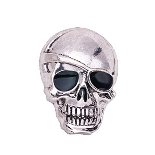 -Kost¨¹m-Schmucksache-Sch?del-Form-Brosche Charm Black Crystal ReversPin f¨¹r Suit (Halloween Stock 1)