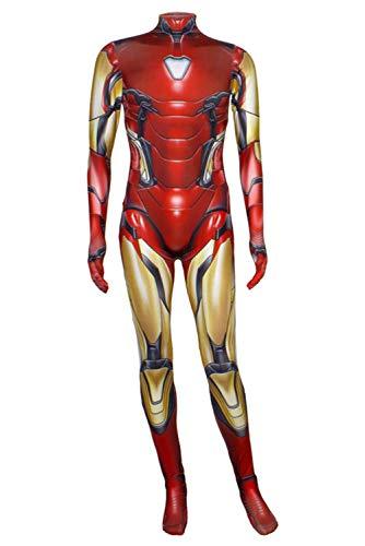 Superheld Avengers Endgame Iron Man Vollständiger Satz Cosplay Kostüm Jumpsuit Halloween Bodysuit 3D Outfit Kinder Jungen XXL (Superhelden-outfits Jungen Für)