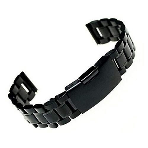 2019 1 Henziy-Uhrenarmbänder-Band15005 schwarz Edelstahl Uhrenarmbänder Strap Gerade Ende Armband Uhrband 18mm 20mm 22mm Schnalle Uhrenarmband Drop Ship Hohe Quanlity