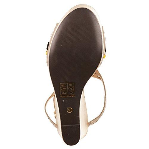 VialeScarpe  O6-sa0449ch_38, Damen Sandalen beige beige 38 Beige