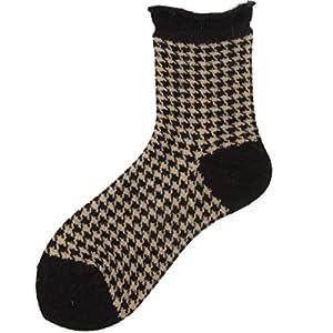 CXKWZ Damensocken Winter-Frauen-Socken-Girly Reizende Rüschen-Rand-Socken-Plaid-Baumwollrüschen-Socken Oder Frauen