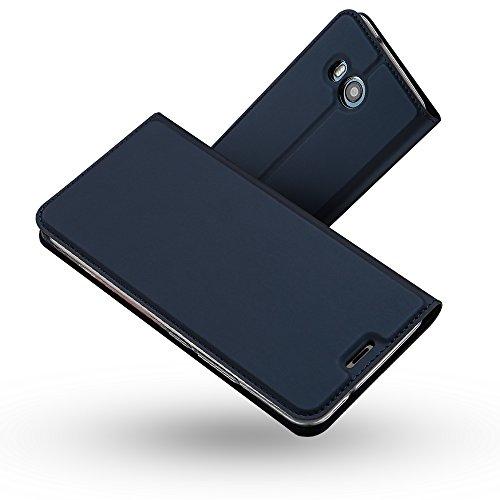 Radoo HTC U11 Hülle,HTC U11 Lederhülle, Premium PU Leder Handyhülle Brieftasche-Stil Magnetisch Klapphülle Etui Brieftasche Hülle Schutzhülle Tasche für HTC U11 (Blau)