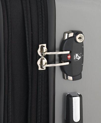 ... 50% SALE ... PREMIUM DESIGNER Hartschalen Koffer - Heys Crown Elite X Schwarz - Handgepäck Schwarz