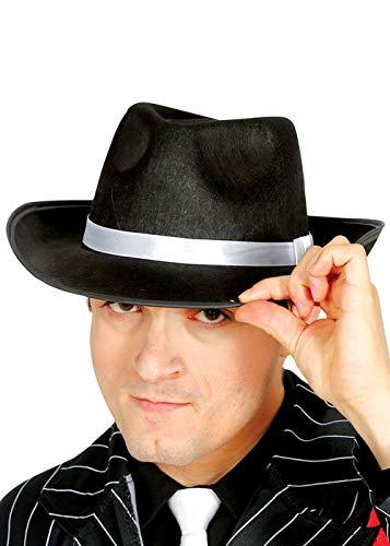 Magic Box Int. Erwachsene Größe der 1920er Jahre schwarz Gangster Hut mit weißen Band (Gangster Schwarz Jahre 1920er Der)