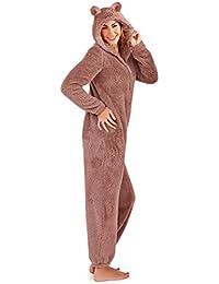 Loungeable, Ladies Luxury 3D Animal All In One Jumpsuit Onesie