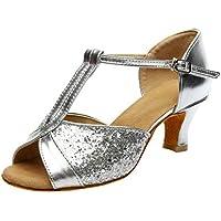 Sandalias Mujer Verano 2018 Casual �� Color Sandalias De Moda para Mujer Rumba Waltz Prom Sandalias Salón de Baile Latino Salsa Zapatos Sandalias