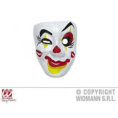 Lively Moments Einfache Gesichtsmaske Clown Maske rot - gelb - ()