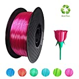 KEHUASHINA Filamento PLA Silk seda de 1.75 mm para impresora 3D - 1kg de bobina. Rosa - Accesorio de impresora 3D. Material de impresión 4D