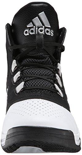 Adidas Performance Amplify chaussure de basket, noir / gris / blanc, 7 M Us White/Black/Silver