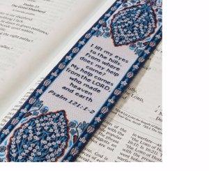 Logos Lesezeichen-Psalm 121: 1-2, Christian, Stoff Teppich Lesezeichen (Teppich Lesezeichen)