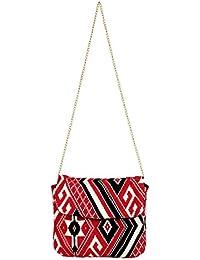 Women Sling Bag Black/red