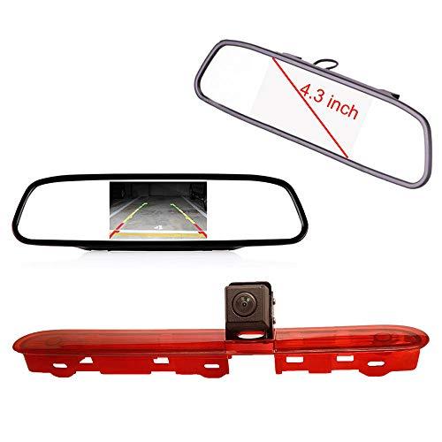 【Rückfahrkamera Kit】 4.3 Zoll Rückspiegel Monitor + im 3.Bremslicht Bremsleuchte Auto Rückfahrkamera Transportster für Citroen Dispatch/Toyota Proace/Peugeot Expert Traveller from 2016 Ge-cctv-kameras