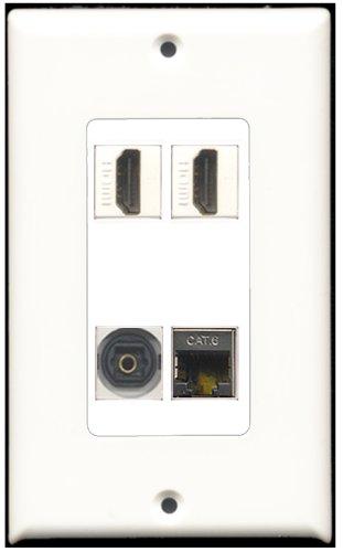 RiteAV-2PORT HDMI 1Port geschirmt CAT6Ethernet 1Port Toslink-Decora Decora Jack