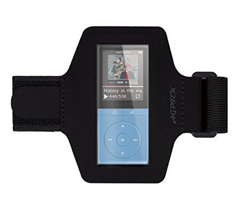 AGPTek Lycra Large Armband Hülle Case für AGPTek 70 Stunden A02 MP3 Player, mit veränderbarer Länge, Safey Design, geeignet für Bewegung, Gymnastik, Jogging, Workout, Rad fahren, Schwarz