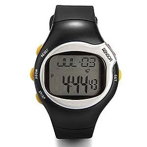 Montre Cardiomètre Pouls Fréquence Calorimètre Cardiaque Sport Argent