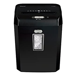 Rexel Promax REX823 1758055A 8 Sheet Manual Cross Cut Shredder for Personal or Executive Use (Up to 2 Users), 23 Litre Bin, Extended Run Time, Black