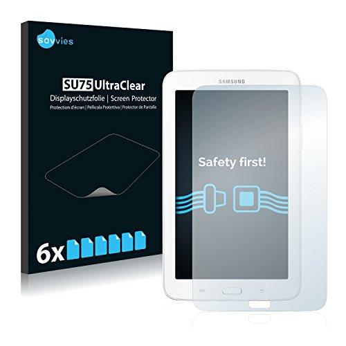 Samsung Galaxy Tab 3 (7.0) Lite SM-T110 Schutzfolie [6er Pack] - Folie Displayschutzfolie klar - 3 Tab Galaxy Schirm Samsung 7