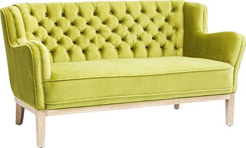 Kare Design Coffee Shop 2-Sitzer Sofa, Polstersofa, Zweisitzer Couch, Polstercouch mit Armlehnen, Retro, Grün, (H/B/T) 76,5x150x82cm