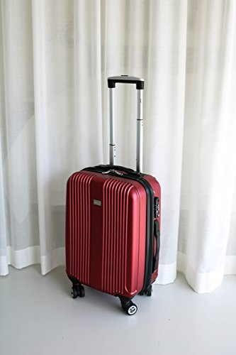 PURE Koffer SENSATION / Reisekoffer / Hartschale / Trolley / robustes PET / 4 Rollen / TSA Zahlenschloss (rot, S) - 2