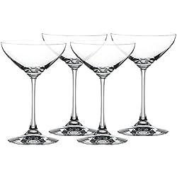 Spiegelau & Nachtmann, 4-teiliges Cocktailschalen-Set, Champagnerschlae/Coupette Glas, Kristallglas, 250 ml, Special Glasses, 4710050