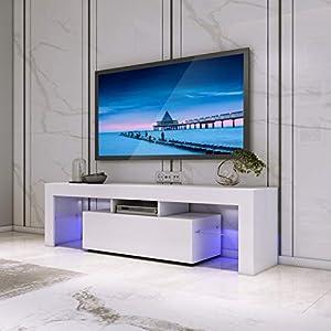 Babette Meuble Tv 116 Cm Blanc Et Gris Fonce Deco Royale
