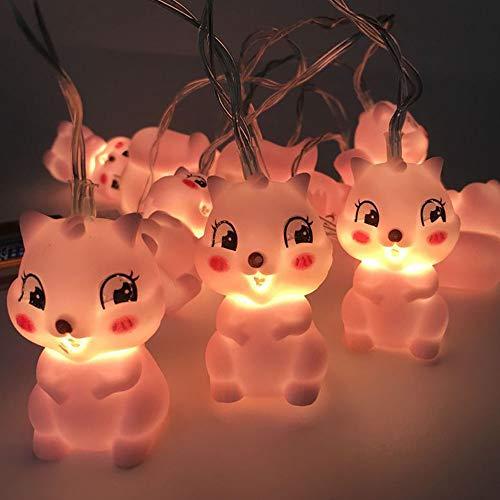 DULEE LED Weihnachtsbeleuchtung LED Tierform Lichter Dekoration Lichter,Katze -