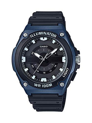 Casio Men's Quartz Watch with Resin Strap, Black, 17.65 (Model: MWC-100H-2AVCF) (Casio Illuminator Uhren)