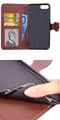 iPhone 7 Schutzhülle leder book,flip cover case Tasche Etui Schutztasche Lederhülle Standfunktion Hülle Für iPhone 7 Schwarz