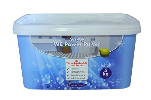 AQUA CLEAN WC Power Pulver 5kg Neu mit Zitrus-Frischeduft und Farbe - Schaum Pulver