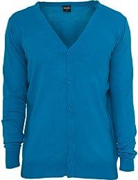 Urban Classics Men's TB405 Knitted Cardigan XL Turquoise