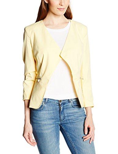 VERO MODA Damen Anzugweste, VMRORO SHORT 7/8 BLAZER WP3 Einfarbig, Gelb (Yellow), Gr. 38 ( Preisvergleich