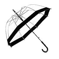 Facethoroughly Transparent Dome Umbrella, Windproof Clear Bubble Umbrella Arched mushroom umbrella