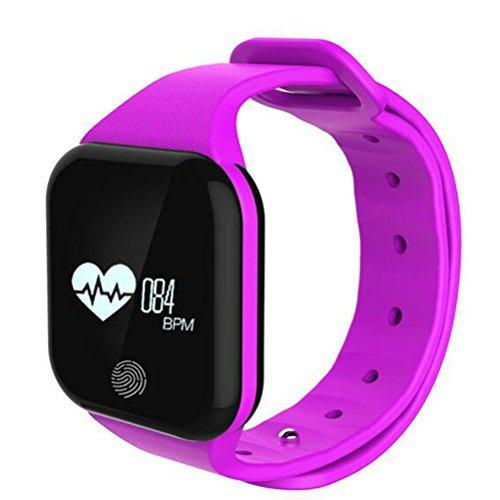 Fitness Tracker Activity Tracker Watch und Herzfrequenz-Monitor wasserdichte Touchscreen Smart Armband für Frauen Männer Schlaf-Monitor Pedometer Schritt Kalorienzähler Remote-Kamera Remote-Kamera Anrufe an 002