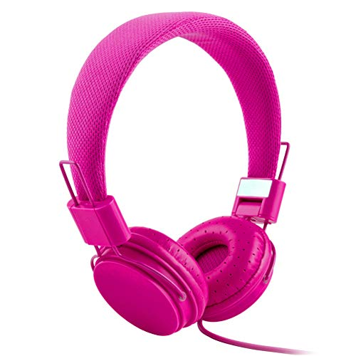 XdremYU Bluetooth Headset,Mikrofon EIN eufor Ohrhorer Funk Dual Rauschunterdrückung Candy Color Faltbarer HiFi-Stereo-Kopfhörer für kabelgebundene Steuerung mit Mikrofon Rose Red