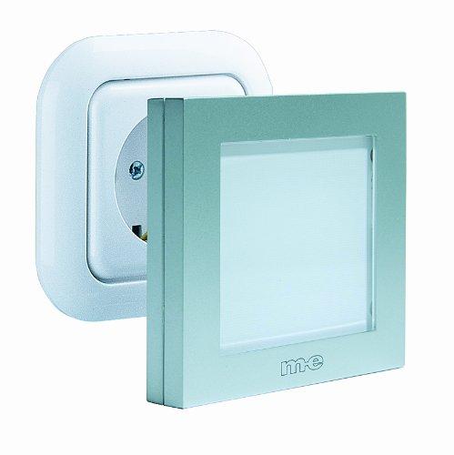 Automatisches LED-Nachtlicht, silber, mit weisser Ausleuchtung